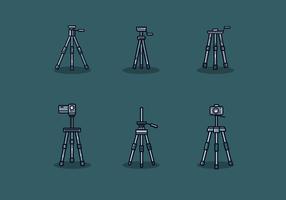 Vettore del treppiede di macchina fotografica