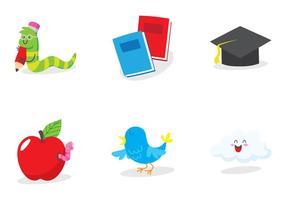 icona di educazione dei bookworm vettore