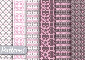 Pastel Ornamet Pattern Set vettore