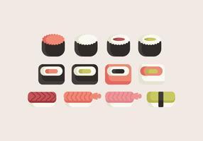 Collezione Sushi vettoriale