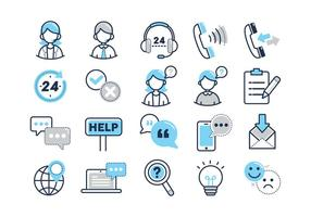 Icone di vettore di servizi al cliente