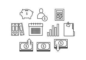 Linea icona di contabilità gratuita vettoriale