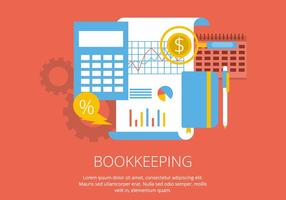 Illustrazione di contabilità vettore