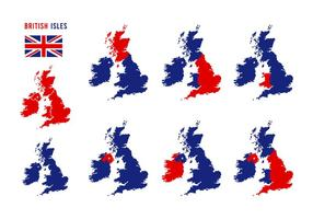 Isole britanniche Mappa vettoriale