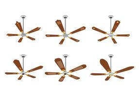 Set di vettori del ventilatore a soffitto