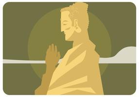 vettore dorato buddah