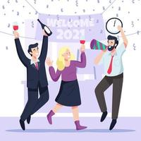 ufficio felice anno nuovo celebrazione