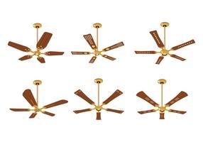 Collezione di ventilatori a soffitto elettrici vettore