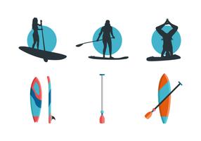 pacchetto di vettore gratuito paddleboard