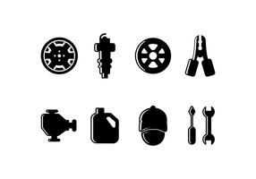 Icona set relativi auto vettore