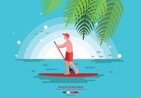 Vettore gratuito di paddleboard
