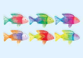 Vector Acquerello di pesce