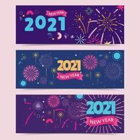 fuochi d'artificio con una varietà di varianti di colore vettore