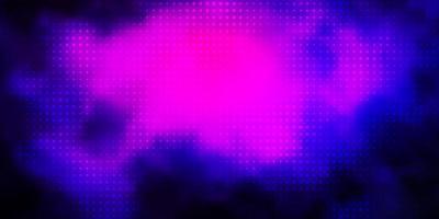 rosa scuro, sfondo blu con cerchi.