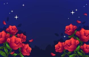 sfondo floreale rosa rossa vettore