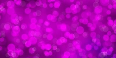 sfondo rosa con cerchi.