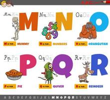 lettere dell'alfabeto per bambini dalla m alla r