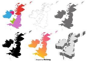 Mappa delle isole britanniche di vettore