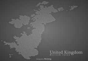 Mappa punteggiata delle isole britanniche di vettore