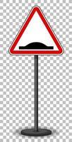 segnale stradale rosso su sfondo trasparente