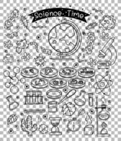 elemento di scienza in stile doodle o schizzo isolato su sfondo trasparente