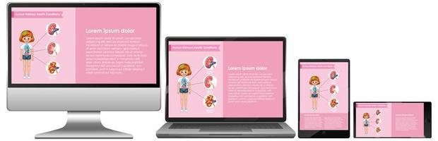 computer con infografica scientifica sul desktop dello schermo