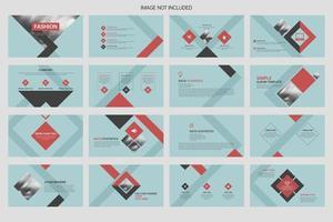 progettazione di presentazioni aziendali e layout di brochure vettore