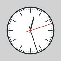 orologio analogico rotondo vettore