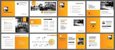 presentazione e layout diapositiva vettore