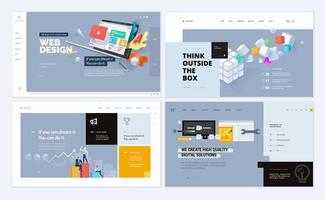 set di modelli di progettazione di pagine web vettore