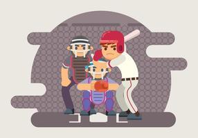 Illustrazione di pastella di baseball vettore