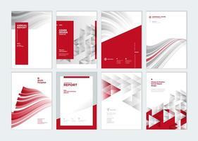 modelli di progettazione copertina del piano aziendale vettore