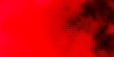 layout rosso con forme circolari.