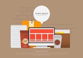 Vettore di concetto di business design piatto
