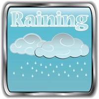 icona del tempo giorno con testo che piove