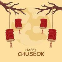 celebrazione del festival di chuseok vettore