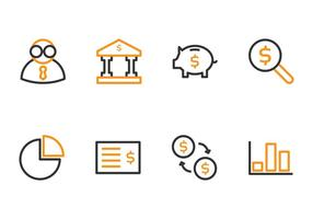 Icone di contabilità vettore