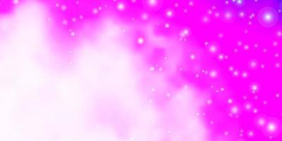 modello rosa chiaro con stelle astratte. vettore
