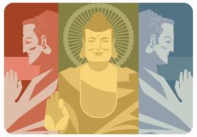 Vettore del Buddha di tre elementi