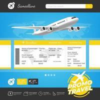modello di promozione di viaggio per la prenotazione online vettore