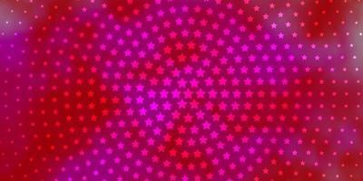 trama rossa e rosa con bellissime stelle. vettore