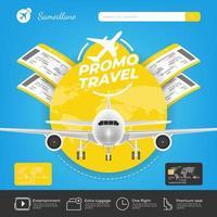 modello di promozione di viaggio per la prenotazione online
