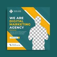set di modello di banner agenzia di marketing vettore