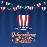 giorno dell'indipendenza 4 luglio vettore