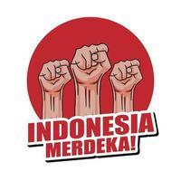 festa dell'indipendenza dell'Indonesia vettore