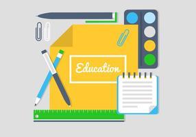 Icone ed elementi vettoriali di educazione gratuita