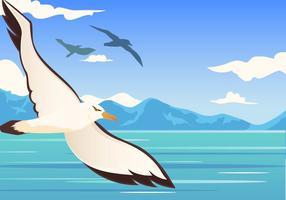 albatros bird flying vettore