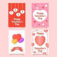 collezione di carte d'amore colorate vettore