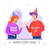 celebrare la festa del nuovo anno vettore