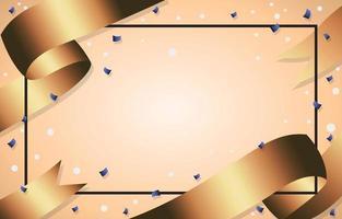 sfondo di nastri d'oro di lusso